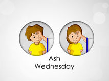 Ash Wednesday Background. Illustration of elements for Ash Wednesday Stock Images