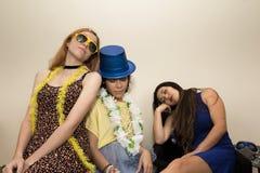 Ash Wednesday Les amis sont fatigués de célébrer Carnaval Girlfr Photos stock