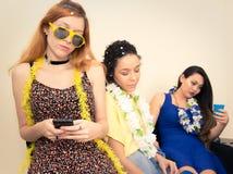 Ash Wednesday Les amis sont fatigués de célébrer Carnaval Teenag Image libre de droits