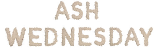 ASH WEDNESDAY. Text made  of ashes Stock Photography