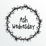 Ash Wednesday. Vector Illustration of a background for Ash Wednesday with Cross Stock Images