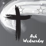 Ash Wednesday. Vector Illustration of a background for Ash Wednesday with Cross vector illustration