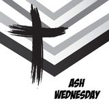Ash Wednesday. Vector Illustration of a background for Ash Wednesday with Cross Stock Photography