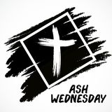Ash Wednesday. Vector Illustration of a background for Ash Wednesday with Cross Royalty Free Stock Image