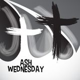 Ash Wednesday. Vector Illustration of a background for Ash Wednesday with Cross Stock Photos