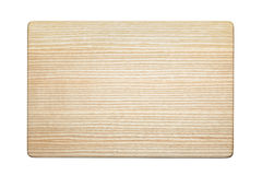 Ash wood cutting board Royalty Free Stock Images