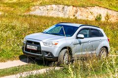 Mitsubishi ASX. Asha, Russia - August 22, 2017: Motor car Mitsubishi ASX at the countryside Royalty Free Stock Photos
