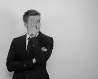Ashamed business man Royalty Free Stock Photography