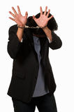 Ashamed man in handcuffs Royalty Free Stock Photography