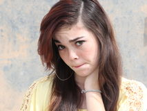 Upset Unhappy Teen Girl Stock Photos