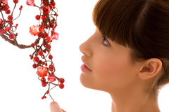 ashberry γυναίκα Στοκ εικόνα με δικαίωμα ελεύθερης χρήσης