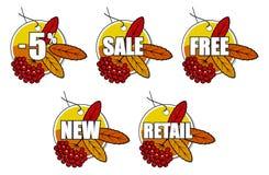 ashberry κόκκινη πώληση φθινοπώρο&u Στοκ φωτογραφία με δικαίωμα ελεύθερης χρήσης