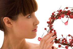 Ashberry woman Royalty Free Stock Photography