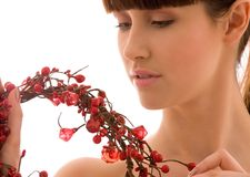 Ashberry woman Royalty Free Stock Photos