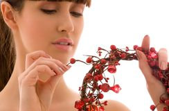 Ashberry woman Royalty Free Stock Image