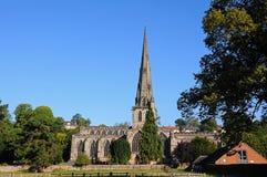 Ashbourne church. stock photos