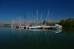Ashbridges Bay Toronto. On lake Ontario. Large boat Marina. Close to the Beach, part of Toronto, and the Boardwalk there Stock Photography