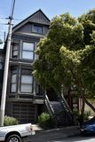710 Ashbury St, the Grateful Dead House, 3. This 710 Ashbury St Victorian house was built in 1900. During the 1960`s, San Francisco, and the Haight especialy stock photo