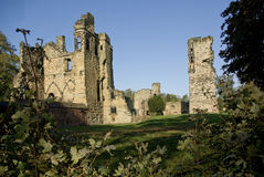 Ashby de la Zouch Castle. The Castle of Asby de la Zouch in the Leicestershire village of the same name, was an extended Norman Manor house by Lord Hastings in Royalty Free Stock Photos