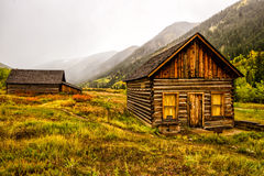 Ashcroft Ghost town. In the fog outside of Aspen, Colorado Royalty Free Stock Photos