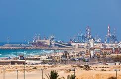 Ashdod portu morskiego widok. Obrazy Royalty Free