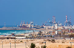 Ashdod seaport view. Royalty Free Stock Images
