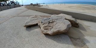 Ashdod strand Royaltyfri Fotografi