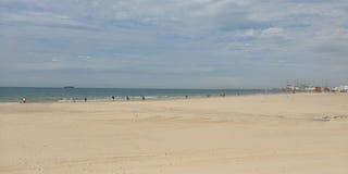 Ashdod strand Arkivbild