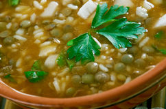 Ashe Berenj. Rice Persian soup royalty free stock photos