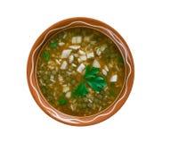 Ashe Berenj. Rice Persian soup stock photo