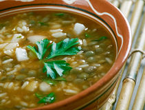 Ashe Berenj. Rice Persian soup stock images