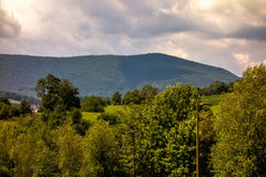Ashe County mountains North Carolina Seen From the Blue Ridge. Parkway in summer stock images