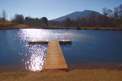 Ashe Park Trout Pond royalty-vrije stock afbeeldingen