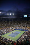 Ashe Stadium - US Open Tennis. A crowded nighttime Arthur Ashe Stadium for a U.S. Open tennis match in Queens, New York City Stock Images