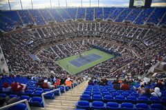 Ashe Stadium - US Open Tennis. A crowded Arthur Ashe Stadium for a U.S. Open tennis match in Queens, New York City Stock Images