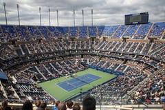 Ashe Stadium - US Open Tennis. A crowded Arthur Ashe Stadium for a U.S. Open tennis match in Queens, New York City royalty free stock photo