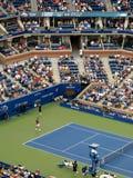 Ashe Stadium - US Open Tennis. A crowded Arthur Ashe Stadium for a 2014 U.S. Open men's tennis match, Wawrinka vs Nishikori Royalty Free Stock Photography