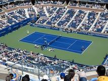Ashe Stadium - US Open Tennis. A crowded Arthur Ashe Stadium for a 2014 U.S. Open women's tennis match, Azarenka vs Makarova Stock Photos