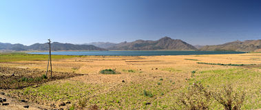 Ashenge湖,埃塞俄比亚XL全景  库存照片
