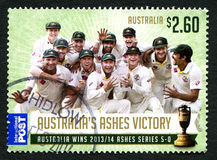 The Ashes Australian Postage Stamp stock photo