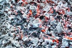 Ashes. Burning ash gray background texture Stock Image