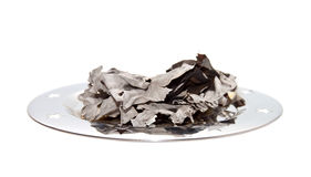 Ashes of burnt paper Royalty Free Stock Photo