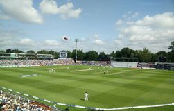 The Ashes 2015. Day four of the first ashes test at the Swalec stadium, Cardiff Royalty Free Stock Photography