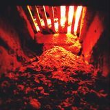Ashes in fireplace Royalty Free Stock Photos