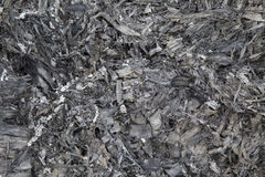 Ashes texture burn black background. Stock Photos