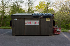 Ashes Only Trash Bin Royalty Free Stock Images