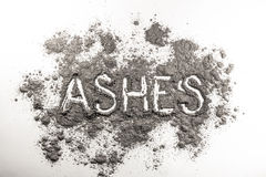 Ashes word written in ashes Stock Photo