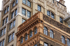Asheville Architecture. Detail of historic buildings in downtown Asheville, North Carolina Stock Image