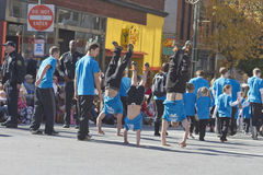 Asheville Christmas Parade Handstands Stock Photos