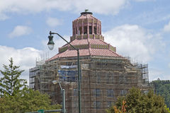 Asheville City Hall Building Under Renovation Stock Photography